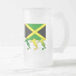 Fútbol Jamaica Jarra De Cerveza Esmerilada