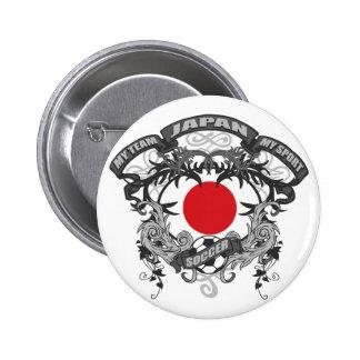 Fútbol Japón Pin Redondo De 2 Pulgadas