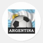 Fútbol la Argentina Etiqueta Redonda