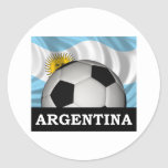 Fútbol la Argentina Pegatina Redonda