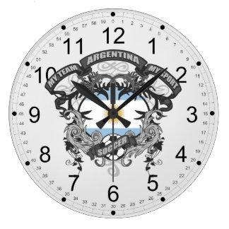 Fútbol la Argentina Reloj Redondo Grande