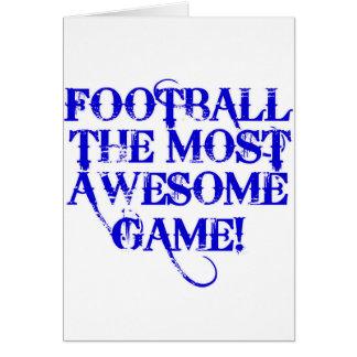 ¡fútbol la mayoría del juego impresionante! tarjeta de felicitación