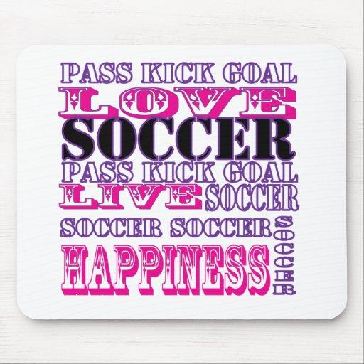 Fútbol lindo Mousepad del amor Tapetes De Ratones