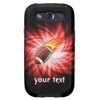 Fútbol llameante; Rojo Samsung Galaxy SIII Funda