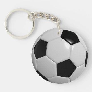 Fútbol Llavero Redondo Acrílico A Doble Cara