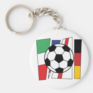 Fútbol Llavero Redondo Tipo Pin