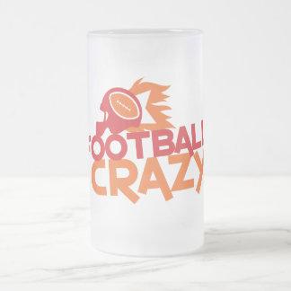 fútbol loco taza de cristal