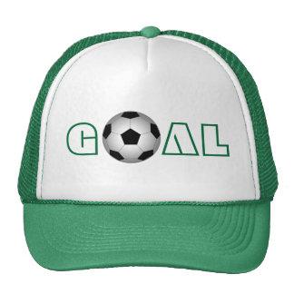 Fútbol, meta, gorro de camionero