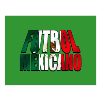 Futbol Mexicano - Soccer lovers Mexico flag logo Postcard
