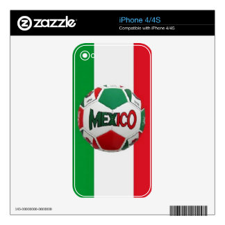 FUTBOL MEXICO DECALS FOR THE iPhone 4S