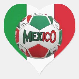 FUTBOL MEXICO HEART STICKER