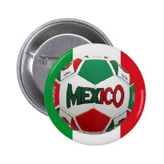 Fútbol México Río el Brasil Pin Redondo 5 Cm