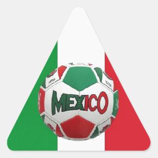 FUTBOL MEXICO TRIANGLE STICKER