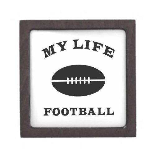 Fútbol mi vida cajas de recuerdo de calidad