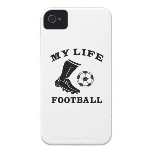 Fútbol mi vida iPhone 4 Case-Mate fundas