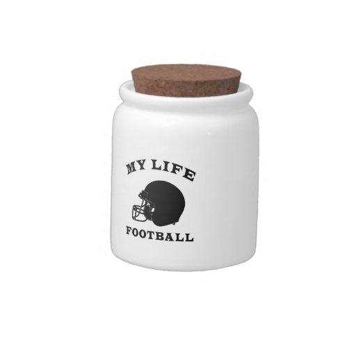 Fútbol mi vida jarra para caramelo