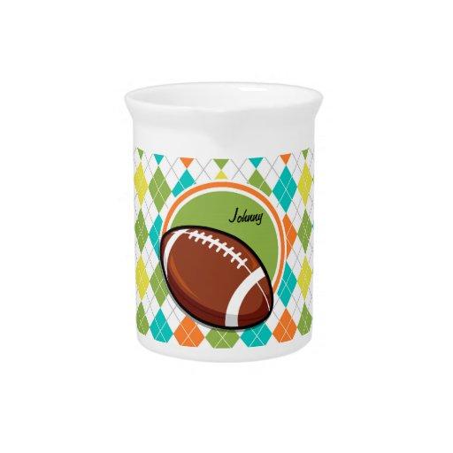 Fútbol; Modelo colorido de Argyle Jarras Para Bebida