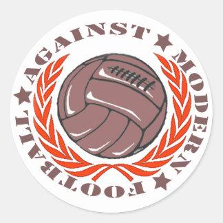 Fútbol moderno de Agaisnt Pegatina Redonda