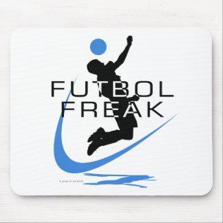 Fútbol - monstruo de Futbol - muchachos - azul Alfombrilla De Ratón