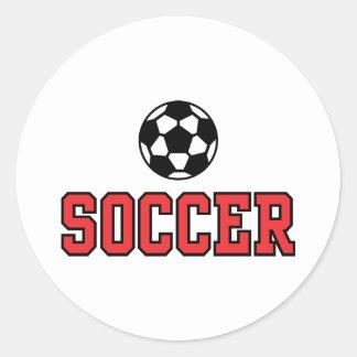 Fútbol N Ball12 Pegatina Redonda
