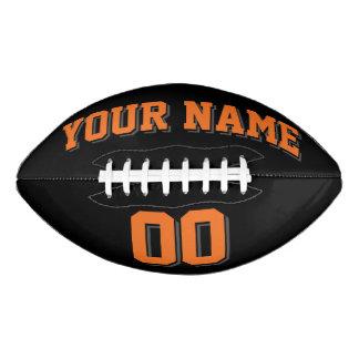 Fútbol NEGRO del personalizado del GRIS del Balón De Fútbol Americano