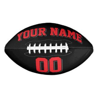 Fútbol NEGRO del personalizado del GRIS del ROJO Y Balón De Fútbol Americano