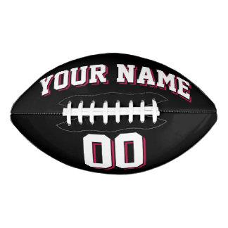 Fútbol NEGRO del personalizado del ROJO BLANCO Y Balón De Fútbol Americano