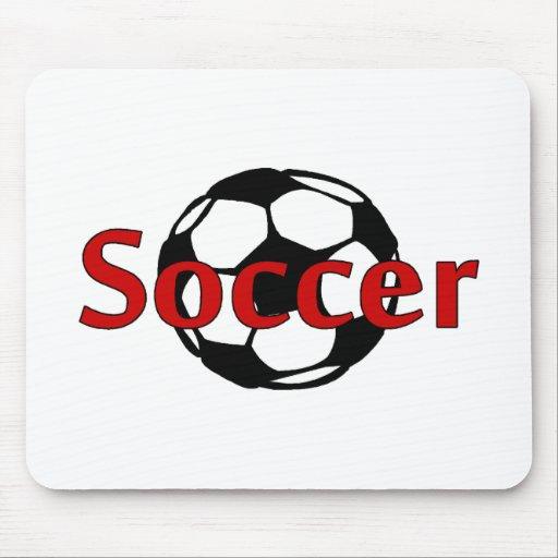 Fútbol (negro del Rd) Tapetes De Raton