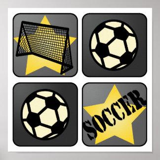 Fútbol negro posters