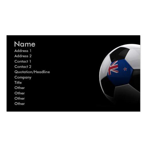 Fútbol Nueva Zelanda Tarjetas De Visita