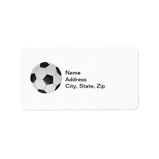 Fútbol o fútbol de asociación americano etiquetas de dirección