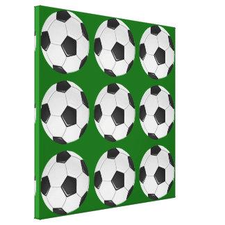Fútbol o fútbol de asociación americano impresión en lienzo