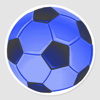 Fútbol o fútbol de asociación americano pegatina redonda