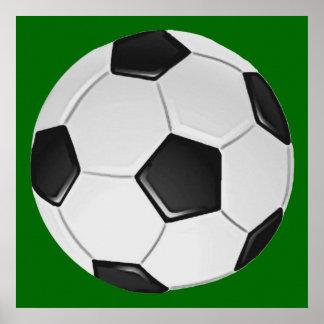 Fútbol o fútbol de asociación americano póster