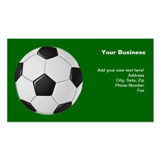Fútbol o fútbol de asociación americano tarjetas de visita
