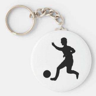 Fútbol o fútbol llavero redondo tipo pin