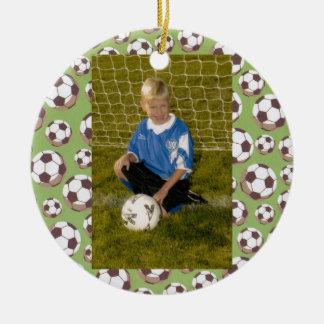 Fútbol o todo el ornamento del personalizado del ornamentos de navidad