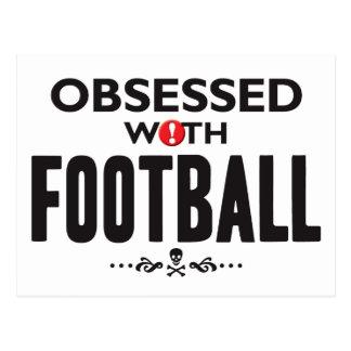 Fútbol obsesionado tarjetas postales