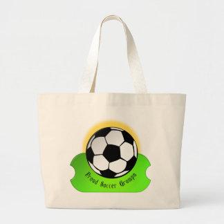 Fútbol orgulloso Grampa Bolsa De Mano