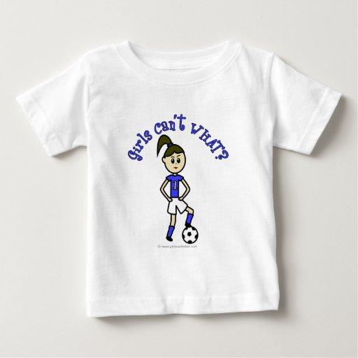 Fútbol para mujer ligero en uniforme del azul playera de bebé