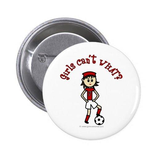 Fútbol para mujer ligero en uniforme del rojo pins