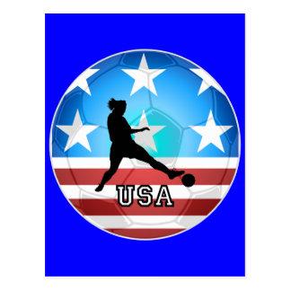 fútbol para mujer postales
