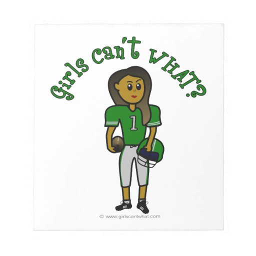 Fútbol para mujer verde oscuro libretas para notas