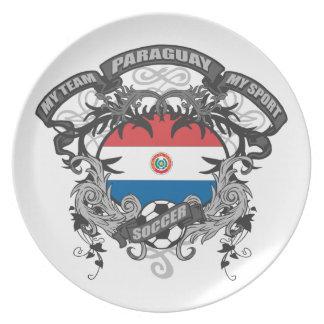 Fútbol Paraguay Platos De Comidas