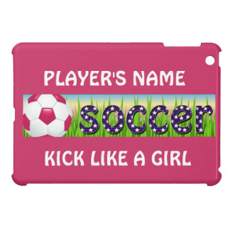 Fútbol patriótico de los E E U U iPad Mini Funda