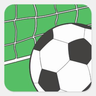 Fútbol Calcomanía Cuadradas Personalizadas
