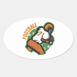Fútbol Pegatina Ovalada