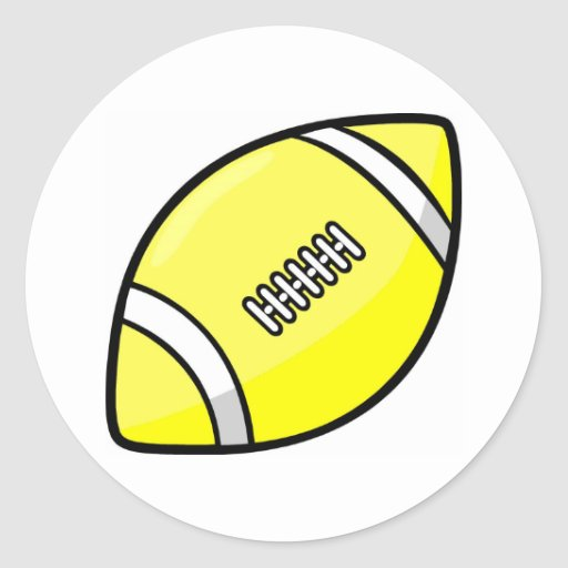 Fútbol Pegatina Redonda