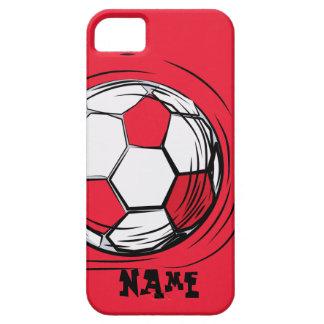 Fútbol personalizado iPhone 5 Case-Mate protectores