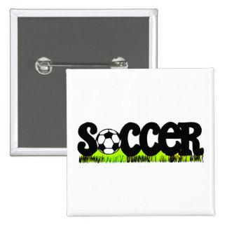 Fútbol Pin Cuadrada 5 Cm